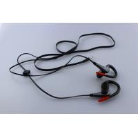 Buy cheap Cell phone Black Earbuds Portable Stereo Headphones Wired with MIC product