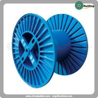Large size reel with flanges obtained from corrugated plate for shipping purposes