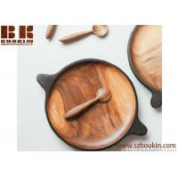 Buy cheap Serving small walnut plate Wooden serving plate dish Small rustic serving plate Japanese wooden plate Wooden utensil Wab from wholesalers