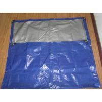 Buy cheap blue/white canvas curtain with rope and grommets form Haicheng in FeiCheng from wholesalers
