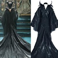 Buy cheap Princess Dress Wholesale PU Imitation Leather Women's Clothes Sleeping Curse Maleficent Cosplay Black from wholesalers