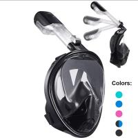 Buy cheap Dry Top Set Full Head Snorkel Mask Easy Breathing With Liquid Silicone Material from wholesalers