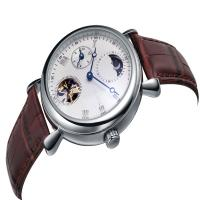 Buy cheap Stylish Germany Mens Brown Leather Strap Watches Mechanial Movt  Nick Free from wholesalers