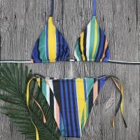 Buy cheap Wholesale and Retail 2018 Women Sexy Color Striped Brazilian Bikini Set product
