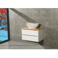 Buy cheap Timber Countertop Single Bowl Bathroom Vanity DTC Metal Runners 800*510*500mm product