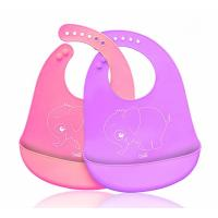 Buy cheap Waterproof Soft Silicone Baby Apron Bib Easily Wipes Clean Customized Size from wholesalers