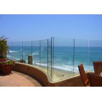 Buy cheap Seaside Outdoor Glass Panel Railings , Toughened Glass Deck Railing 12mm from wholesalers