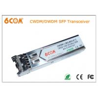 Buy cheap DFB+APD LC DWDM sfp transceiver 1.25G 80km for Ethernet IEEE 802.3ae from wholesalers