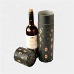Buy cheap Custom Paper Black Round Gift Cardboard Wine Box from wholesalers