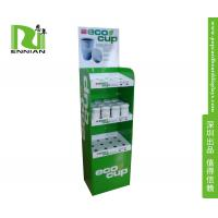 Buy cheap Promotional Cardboard Floor Displays , Coffee Mug / Cup Cardboard Display Rack from wholesalers