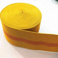 Buy cheap 70mm Yellow color Elasticated Upholstery Webbing for Sofa Chair from wholesalers