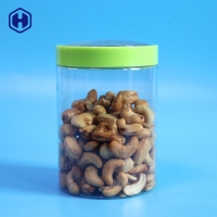 Buy cheap Factory One Stop Solution 500ml 16.9oz EOE Lid Fashion Design PET Food Packaging  Round Plastic Jar from wholesalers