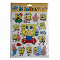 Buy cheap Shinning puffy stickers, eco-friendly, easy to apply and remove product