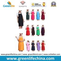 Buy cheap Kitchen cooking tool accessory hot sale apron with front pocket different colors in stock from wholesalers