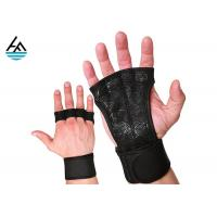 Buy cheap Waterproof Neoprene Weightlifting Wrist Wrap With Leather Hand Grip from wholesalers