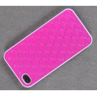 China Glitter Rhinestone PU Paster Plastic cell phone cover for iPhone 4G/4S on sale
