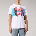 Buy cheap Custom White Summer Men T Shirt Digital Printing Skull Style O Neck 100% Cotton from wholesalers