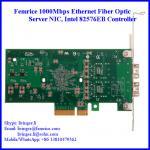 Buy cheap Femrice 1G Dual Port Fiber Optic Server Network Card, PCI Express x4 Network Adapter from wholesalers