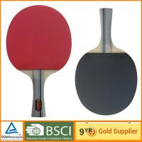 Buy cheap Professional 7 ply Table Tennis Bat with short handle table paddle racket from wholesalers