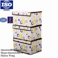Buy cheap Household storage colourful collapsible non woven plastic storage box & bins from wholesalers