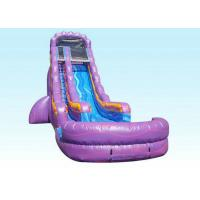 Buy cheap Purple Attractive Kids Inflatable Water Slide Pressure-resistance from wholesalers