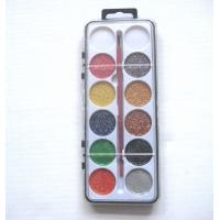 Buy cheap 12 colors glitter painters set with paint brush from wholesalers