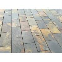 Buy cheap Gray Yellow Natural Stone Slate Tile For Flooring , Smooth Square Slate Tiles from wholesalers