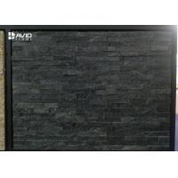Buy cheap Black Quartz Cultured Stone Wall Panels Light Weight 10-20mm Thickness from wholesalers