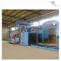 Buy cheap Steel structure H beam shot blasting machine / Roller Conveyor Sand Blasting Machine from wholesalers