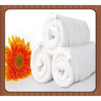 Buy cheap Water absorption custom logo design white hotel folding towels product