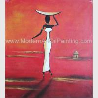 Buy cheap Abstract Modern Oil Paintings , Handmade African Women Canvas Painting Acrylic from wholesalers