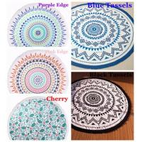 Buy cheap Indian Mandala Round Roundie Beach Towel Tassel, Turkish Round Beach Towel with Tassel from wholesalers