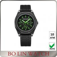 Buy cheap Male All Black Stainless Steel Military Watches Luminous Display OEM / ODM from wholesalers