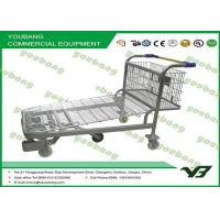 Buy cheap Portable Powder Coated Luggage Wire Steel heavy duty flat bed trolley with wheels from wholesalers