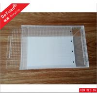 Buy cheap Clear Rectangle Acrylic Fish Tank / Lucite Mini Fish Tank Laser Printing from wholesalers