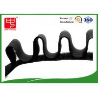 20mm black Hook and Loop Tape self adhesive velcro roll Silk Printing Logo