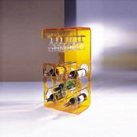 Buy cheap Yellow Acrylic Display Case Holder Rack For Wine Bottle Shelves product