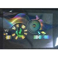 Buy cheap Transparent Holographic Security Stickers Double Layer Strong Adhesive from wholesalers