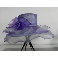 Buy cheap Chiffon Women Packable Organza Hat in Big Brim / Two flying Brim, Overlocked Flower / Crin for Special Occasion from wholesalers