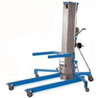 Buy cheap Portable Manual Pallet Stacker Aluminium Cylinder Type Manual Material Lift 6000mm Max Lift Height from wholesalers
