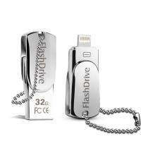 Buy cheap Lighting OTG Phone USB Flash Drive , iPhone Swivel Metal 32GB USB Memory Stick from wholesalers