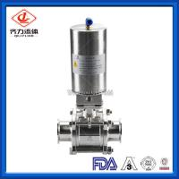 Buy cheap 3PC  Hygienic Ball Valve Low Pressure PTFE Sealing High Polished Dust Proof from wholesalers