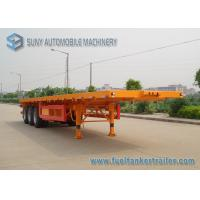 Buy cheap 40ft Container Flatbed Semi Trailer , 3 Axles 45T Flatbed Utility Trailer from wholesalers