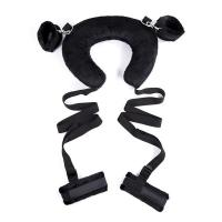 Buy cheap Plush Neck Harness Bondage Starter Kit with Handcuffs and Ankle Cuffs Made of Ribbon from wholesalers