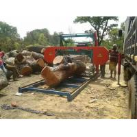 Buy cheap Horizontal wood band saw / portable sawmill diesel /Electric log bandsaw Mill machine from wholesalers