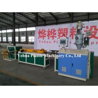 Buy cheap pvc eva pa pe pp single wall corrugated pipe machine extrusion line production for sale from wholesalers