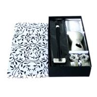 Buy cheap Black / White Oil Burner Gift Sets Ceramic Aroma Oil Burner With Towel / Bamboo Mat product