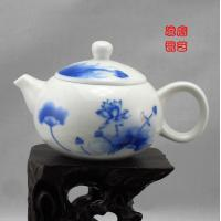 Buy cheap Blue And White Chinese Jingdezhen Porcelain Tea Sets With Qinghua Lotus from wholesalers