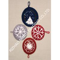 Buy cheap Round Shape Handmade Crochet Accessories , Snowflake Pattern Kitchen Knitted Dishcloths Free Patterns from wholesalers