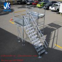 Buy cheap Structural steel fabrication prefabricated steel staircase working platform from wholesalers